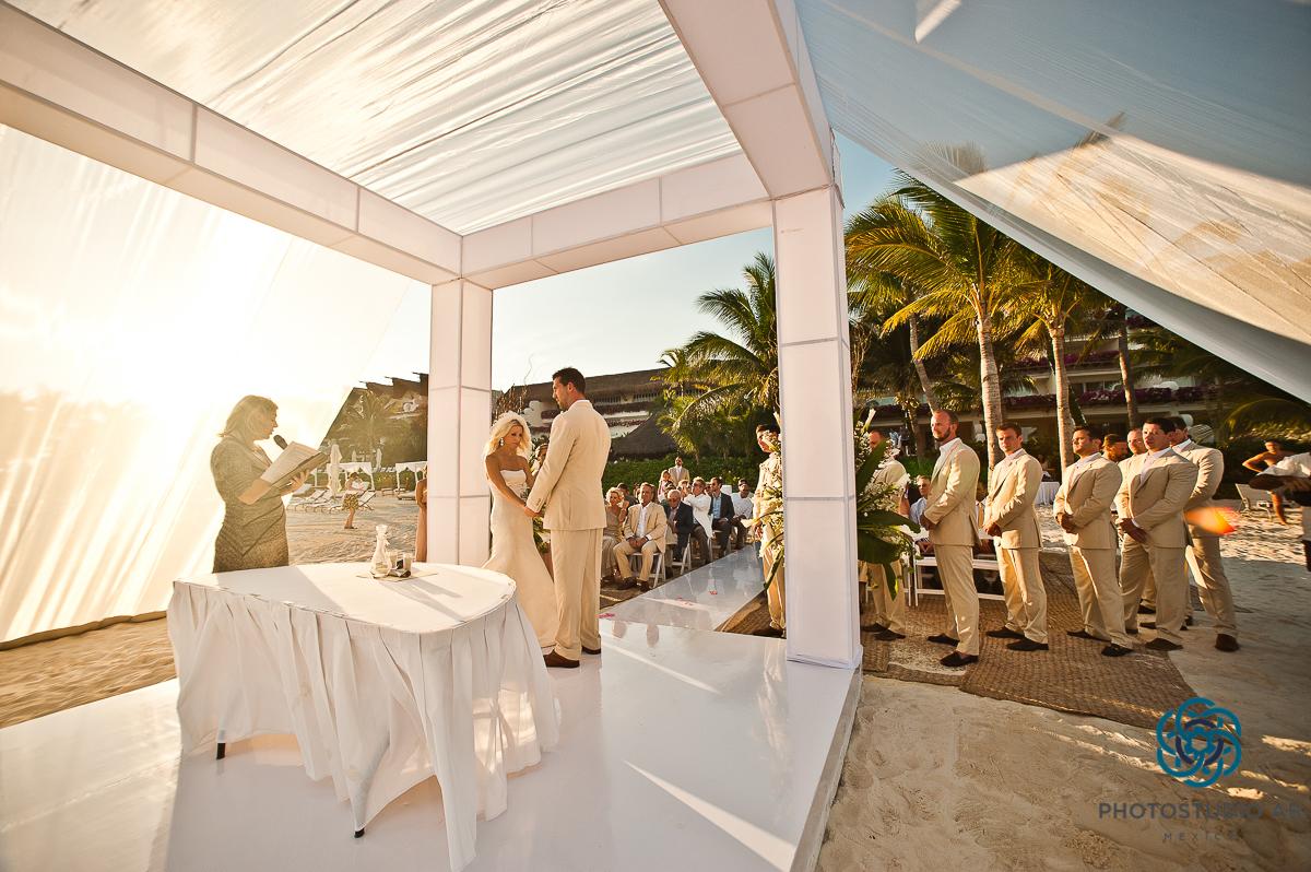 Playa Del Carmen Wedding Photographer Riviera Maya Sunset Ceremony Gran Velas Grand